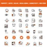 Una collezione di icone di applicazione e di Web per i progettisti di Web Icone di questo web è un insieme dell'icona di varico d illustrazione di stock
