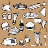 Cafeteria_Food_Elements Fotografie Stock