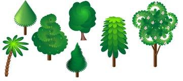 Una collezione di sette alberi Fotografia Stock