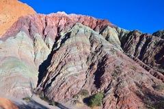 Una collina di sette colori immagini stock libere da diritti