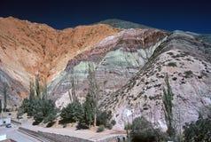 Una collina di sette colori, Salta, Argentina Immagini Stock Libere da Diritti