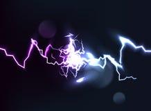 Una collisione di due forze con luce Potere scintillante caldo e freddo Effetto della luce con le scintille royalty illustrazione gratis