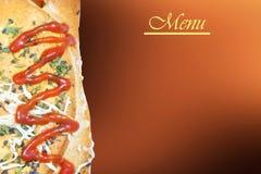 Carta del menu del ristorante Fotografia Stock Libera da Diritti