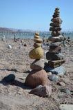Una columna más baja dos de piedras Imagen de archivo