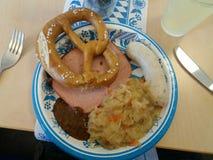Una comida bávara sabrosa Foto de archivo