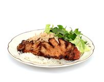Una comida de placa del arroz Imagenes de archivo