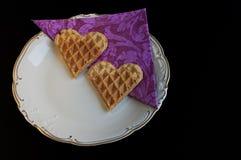 Una comida del amor de la tarjeta del día de San Valentín Fotos de archivo libres de regalías