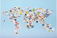 Una compilación de las cadenas de venta al por menor importantes de los E.E.U.U. libre illustration