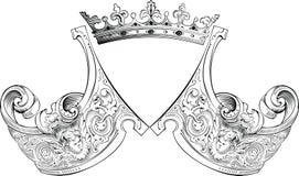 Una composición de la armería de la corona del color. stock de ilustración