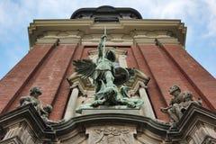 Una composición escultural religiosa Imagen de archivo