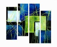 Una composizione astratta di quattro parti Fotografia Stock