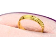 Una condizione dorata dell'anello Immagini Stock Libere da Diritti