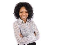 Una condizione graziosa della donna dell'afroamericano Fotografie Stock Libere da Diritti