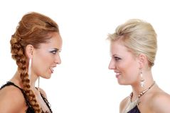 Una conversazione dei due modelli di modo Immagine Stock Libera da Diritti