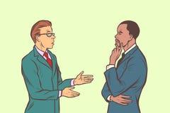 Una conversazione dei due uomini d'affari Multi gruppo etnico illustrazione vettoriale