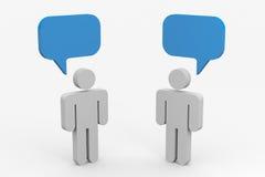 Una conversazione delle due genti. illustrazione di stock