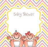 Una copertura divertente della doccia di bambino Illustrazione di Stock