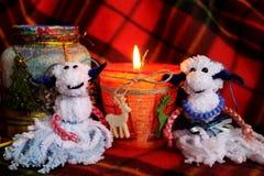 Una coppia di agnello in una lampada Fotografie Stock Libere da Diritti