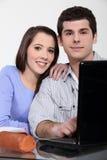 Una coppia di allievi Immagine Stock