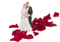 Una coppia di cerimonia nuziale fatta di plastica immagine stock