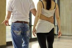 Una coppia di dancing Fotografie Stock