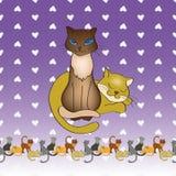 Una coppia di gatti illustrazione vettoriale