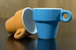 Una coppia di tazze del caffè espresso Fotografie Stock Libere da Diritti