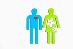 Una coppia felice nell'amore Immagini Stock Libere da Diritti