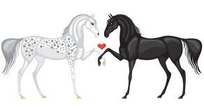 Una coppia i cavalli illustrazione vettoriale