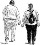 Una coppia i cittadini su una passeggiata Immagine Stock Libera da Diritti