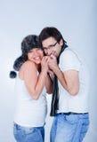 Una coppia incinta Fotografia Stock