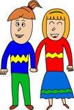Una coppia in mani della tenuta di amore illustrazione vettoriale