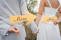 Una coppia sposata Immagine Stock