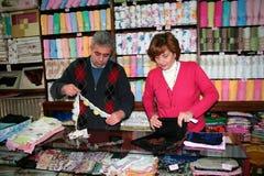 Una coppia sul commercio Fotografie Stock Libere da Diritti