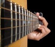 Una corda della chitarra Fotografia Stock Libera da Diritti