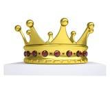 Una corona dell'oro e del libro bianco Fotografia Stock
