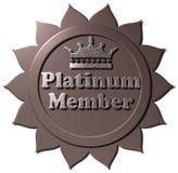 Una corona della guarnizione del membro del platino 3D Fotografie Stock