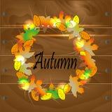 Una corona delle foglie di autunno Fotografia Stock