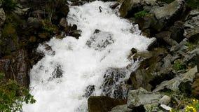 Una corriente rugosa de la montaña metrajes