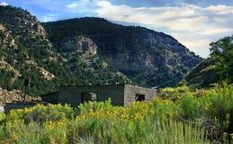 Una costruzione abbandonata della stazione del bestiame in Colorado Immagine Stock Libera da Diritti