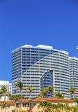 Una costruzione costiera del condominio Fotografia Stock