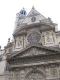 Una costruzione di chiesa splendida vicino alle Panthéon, Parigi immagine stock libera da diritti