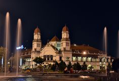 Una costruzione di mille porte a Samarang fotografie stock libere da diritti