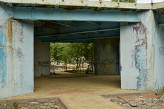 Una costruzione metallica di decomposizione Immagine Stock Libera da Diritti