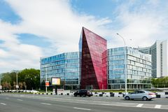 Una costruzione moderna a Minsk belarus Fotografie Stock Libere da Diritti