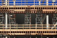 Una costruzione nel corso della costruzione immagini stock