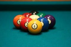Una cremagliera delle nove sfere Fotografia Stock