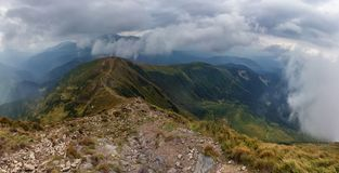 Una cresta della montagna Fotografia Stock