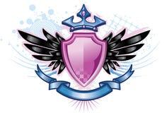 Cresta rosada del escudo Foto de archivo