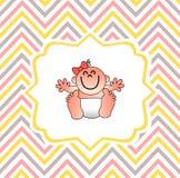 Una cubierta divertida de la fiesta de bienvenida al bebé Fotos de archivo libres de regalías
